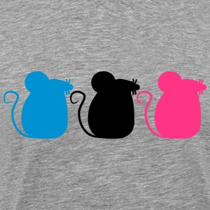 3 Mice Party Camisetas - Camiseta premium hombre