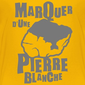 marquer pierre blanche expression Tee shirts - T-shirt Premium Enfant