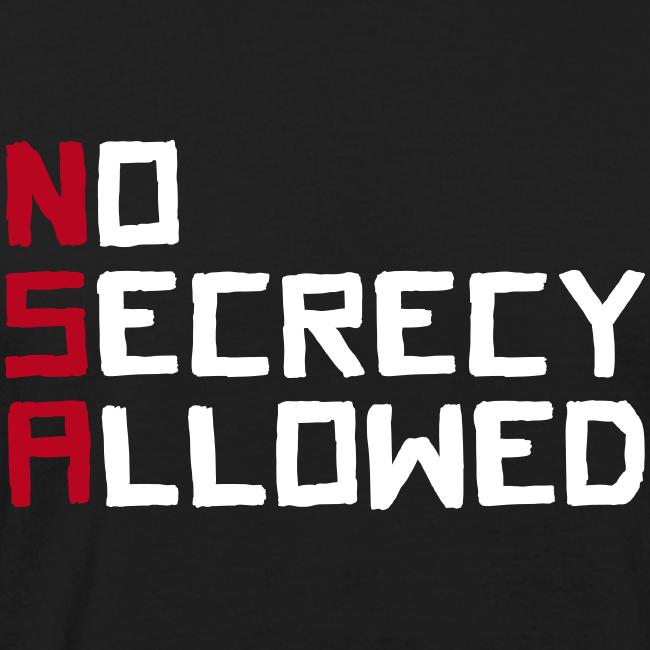 NSA - No Secrecy Allowed