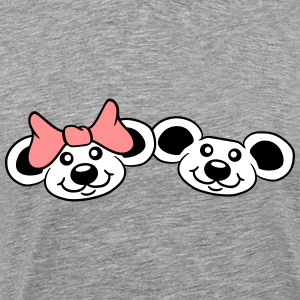 2 mice couple couples love love T-Shirts - Men's Premium T-Shirt