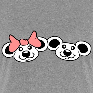 2 mice couple couples love love T-Shirts - Women's Premium T-Shirt