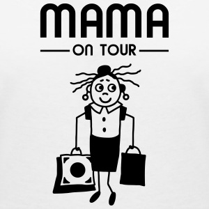 Mama on Tour - Shoppen T-Shirts - Frauen T-Shirt mit V-Ausschnitt
