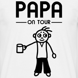 Papa on Tour - Party T-Shirts - Männer T-Shirt