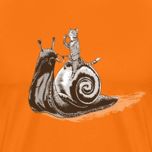 Cat Snail Rider Sepia Tee shirts - T-shirt Premium Homme
