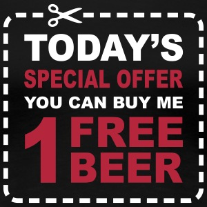 Free Beer - Special Offer Coupon T-Shirts - Women's Premium T-Shirt