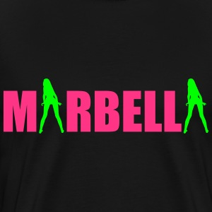 Marbella sexy Girls holiday Spain Camisetas - Camiseta premium hombre