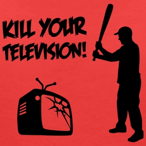 Kill Your Television - Against Media dumbing T-Shirts - Women's V-Neck T-Shirt