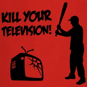Kill Your Television - Against Media dumbing  Aprons - Cooking Apron