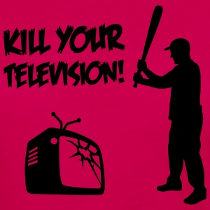 Kill Your Television - Against Media dumbing Long Sleeve Shirts - Women's Premium Longsleeve Shirt