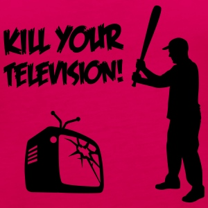 Kill Your Television - Against Media dumbing Tops - Women's Premium Tank Top