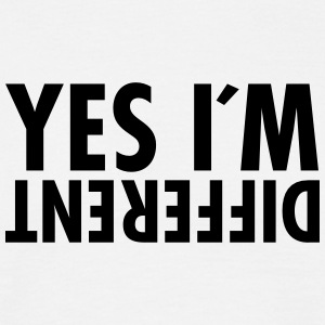 Yes I´m Different T-shirts - Herre-T-shirt