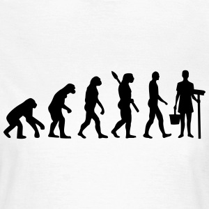 Evolution Putzfrau T-Shirts - Frauen T-Shirt