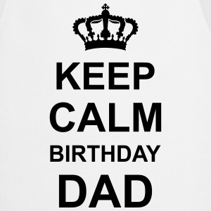 keep_calm_birthday_dad_g1 Delantales - Delantal de cocina