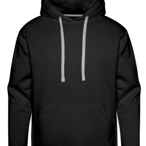 Happy Bunny with Stars - Men's Premium Hoodie