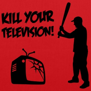 Kill Your Television - Against Media dumbing Bags & Backpacks - Tote Bag