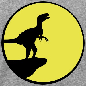 Howling Raptor full moon cliff T-Shirts - Men's Premium T-Shirt