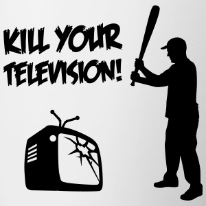 Kill Your Television - Against Media dumbing Bottles & Mugs - Contrasting Mug