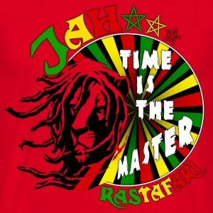 jah rastafari time is the master Tee shirts - T-shirt Homme