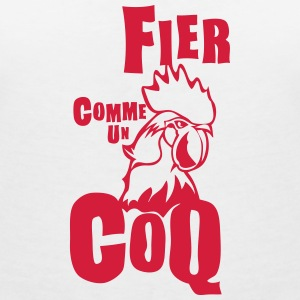 fier comme coq expression Tee shirts - T-shirt col V Femme