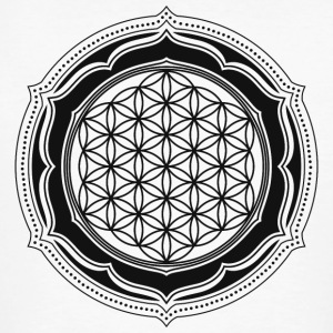 Flower of Life, Energy Symbol, Sacred Geometry T-shirts - Mannen Bio-T-shirt
