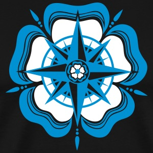 Compass Rose, Sailor, Sailing, Water, Sports, Sea T-skjorter - Premium T-skjorte for menn