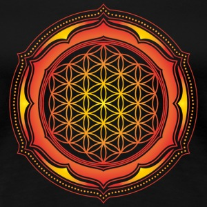FLOWER OF LIFE, CHAKRAS, SPIRITUALITY, YOGA, ZEN,  T-shirts, Hoodies & Sweatshirts - Women's Premium T-Shirt