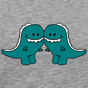 2 T-Rex friends pair T-Shirts - Men's Premium T-Shirt