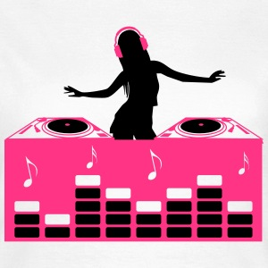 DJ Dance Electronica Klubb Deejay sexy Girl Camisetas - Camiseta mujer