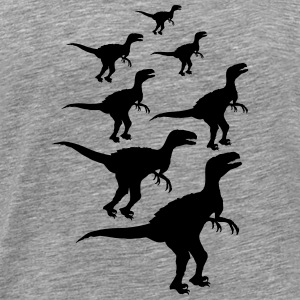 Raptors Team flock pattern T-Shirts - Men's Premium T-Shirt
