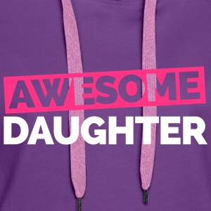 Awesome Daughter  Gensere - Premium hettegenser for kvinner