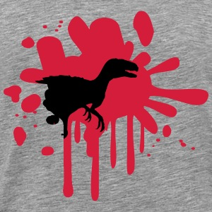 Raptor bloodstain Klex T -Rex T-Shirts - Men's Premium T-Shirt