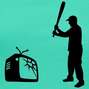 Destroy Your TV - Baseball bat vs. Television Tee shirts - T-shirt col rond U Femme