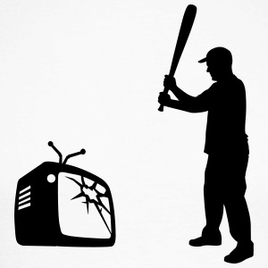 Destroy Your TV - Baseball bat vs. Television Long sleeve shirts - Men's Long Sleeve Baseball T-Shirt