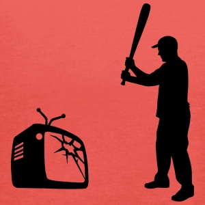 Destroy Your TV - Baseball bat vs. Television Topit - Naisten tankkitoppi Bellalta