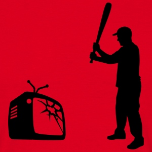 Destroy Your TV - Baseball bat vs. Television Tee shirts - T-shirt Homme