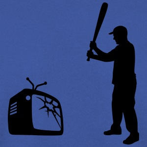 Destroy Your TV - Baseball bat vs. Television Sweat-shirts - Sweat-shirt Homme