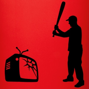 Destroy Your TV - Baseball bat vs. Television Bottles & Mugs - Full Colour Mug