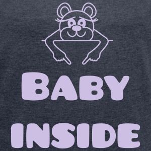 baby inside T-Shirts - Women's T-shirt with rolled up sleeves