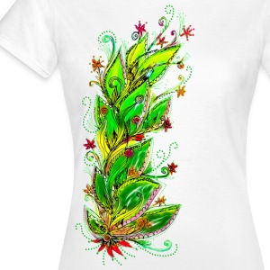 Jungle Flower, forest, summer, vacation, beach T-skjorter - T-skjorte for kvinner