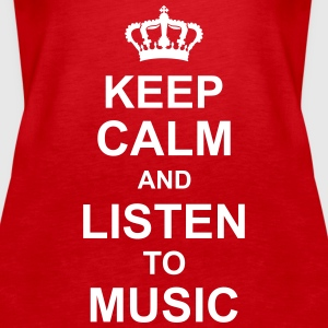 keep_calm_and_listen_to_music_g1 Tops - Vrouwen Premium tank top