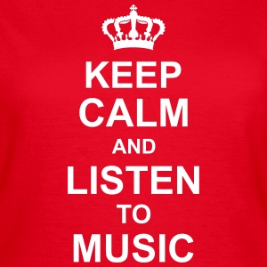 keep_calm_and_listen_to_music_g1 Camisetas - Camiseta mujer