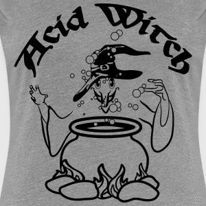 Hat Witch Cauldron poison fire T-Shirts - Women's Premium T-Shirt