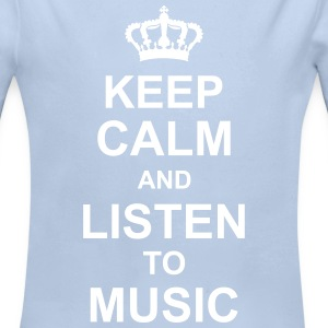 keep_calm_and_listen_to_music_g1 Sudaderas - Body manga larga bebé