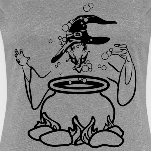 witch Hat gift boiler T-Shirts - Women's Premium T-Shirt