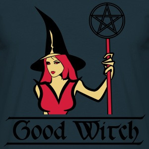 God witch Hat Pentagram T-shirts - Herre-T-shirt
