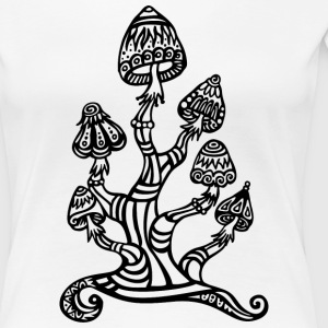 Magic mushrooms, wonderland, psychedelic, lsd T-Shirts - Women's Premium T-Shirt