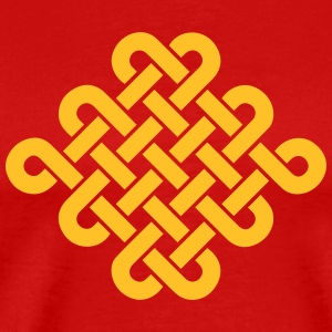 Infinity Buddhism Tibetan endless knot Celtic Andet - Herre premium T-shirt