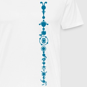 Crop circle - multidimensional human development Andet - Herre premium T-shirt