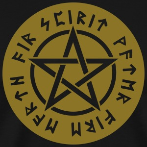 Pentagram star element rune paganism witchcraft Bags & Backpacks - Men's Premium T-Shirt