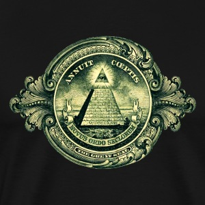 All seeing eye, pyramid, dollar, freemason, god Sacs - T-shirt Premium Homme
